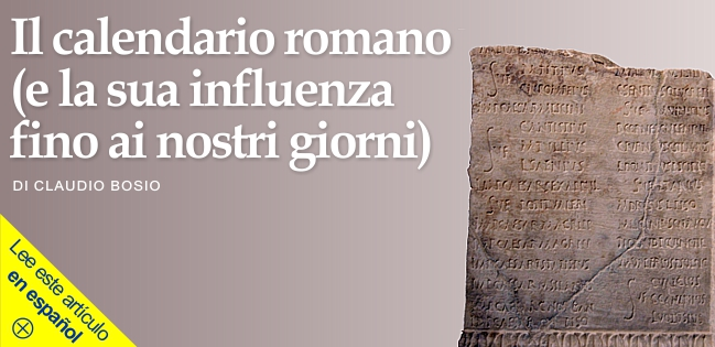 Il Calendario Romano.Punto D Incontro Storia Di Parole Italiane Il Calendario